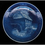 Royal Copenhagen Collectible Plate 1976 - Vibaek Water Mill